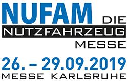 NUFAM - Die Nutzfahrzeugmesse, 26.09. bis 29.09.2019 in der Messe Karlsruhe